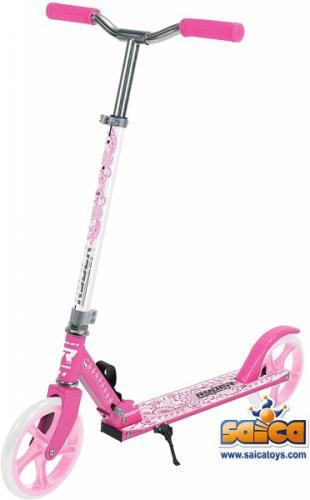 Trotineta pentru copii cu 2 roti Saica 200 mm roz cu alb - Trotinete copii -