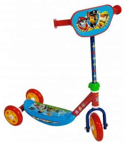 Trotineta pentru copii cu 3 roti Saica Paw Patrol cu roti din silicon albastru cu rosu - Trotinete copii -