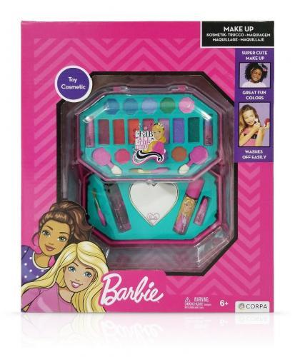 Trusa de Make-up octogonala - cu 2 niveluri - Barbie - Jucarii de imitatie -