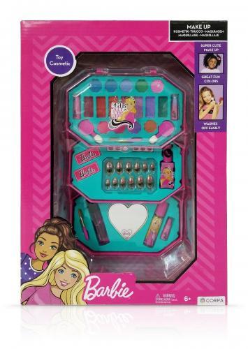 Trusa de Make-up octogonala - cu 3 niveluri - Barbie - Jucarii de imitatie -