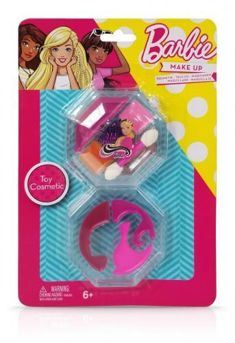 Trusa de Make-up rotunda - cu 2 niveluri - Barbie - Jucarii de imitatie -