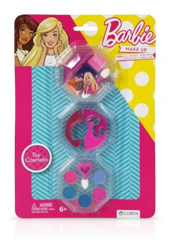 Trusa de Make-up rotunda - cu 3 niveluri - Barbie - Jucarii de imitatie -